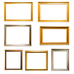 golden and silver picture frame