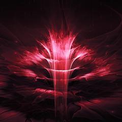 Wall Mural - Futuristic fractal flower
