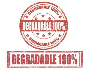 Degradable-stamps