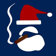 santa smoking cigar