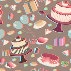 festive seamless background