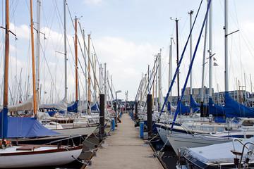 Bootsanleger in Kiel