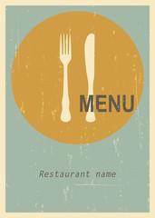 Retro menu cover