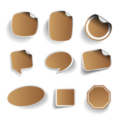 blank labels set, vector
