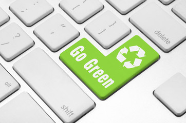 Go Green on the computer keyboard