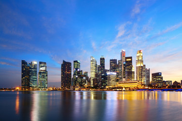 Foto op Plexiglas Singapore Singapore skyline