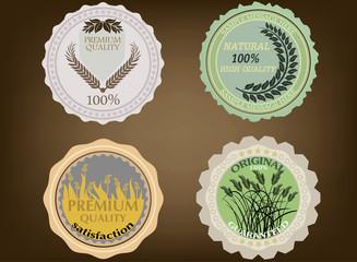 Vintage sticker and label vector background