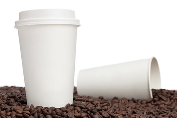Coffee Cups and Beans