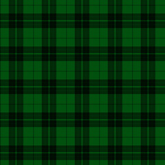 Green and Black Plaid Fabric Background