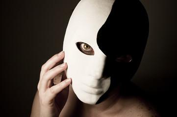 yin and yang mask