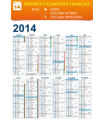 Calendrier 2014 personnalisable - calques / textes