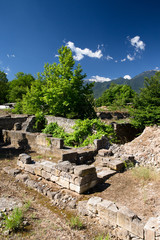 Ancient ruins in Dion
