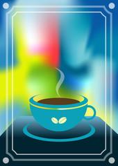Coffee menu card. Vintage vector.