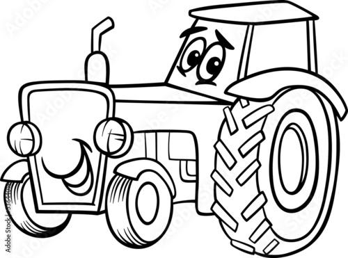 Трактора мультики раскраска