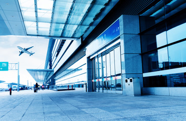 Fotobehang Luchthaven Airport Terminal