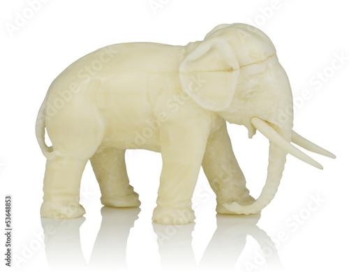 elefant figur aus elfenbein stockfotos und lizenzfreie bilder auf bild 53648853. Black Bedroom Furniture Sets. Home Design Ideas