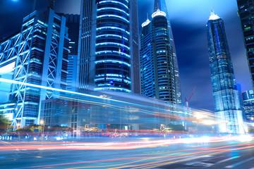 Shanghai Lujiazui city night light