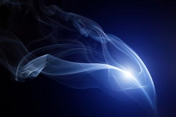 Abstract smoke isolated