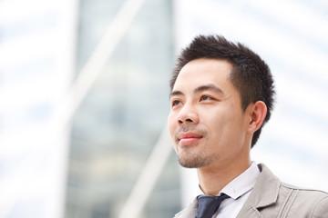 Asian business man in business center