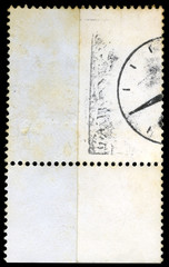 Isolated Blank Postage Stamp