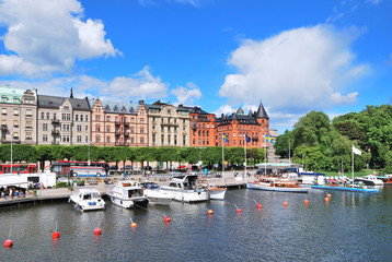 Stockholm. Beautiful quay in Ostermalm