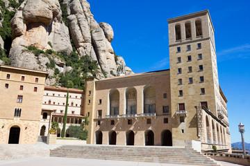 Monastery in Montserrat mountain