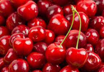 Abstract background of cherry fruits