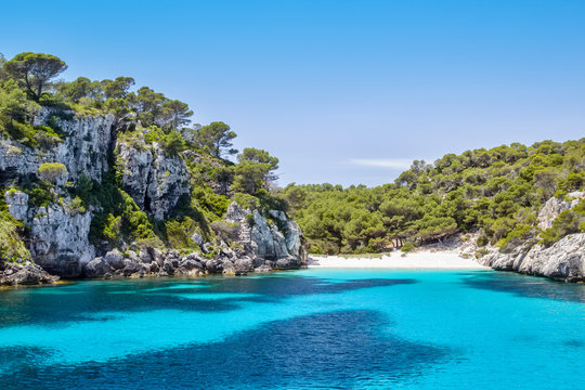 Cala Macarelleta - popular Menorca Island beach