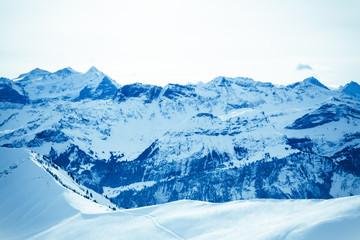 Winter mountains.