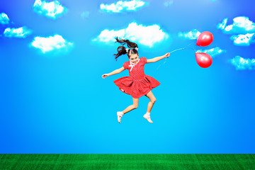 on balloons