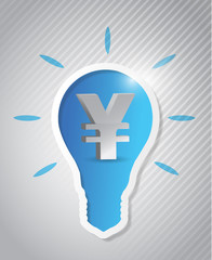 yen idea light bulb cut out
