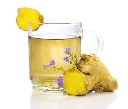 Healthy, herbal tea of ginger