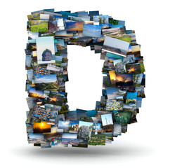 Letter D from photos