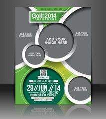 Vector Golf brochure, flyer, magazine