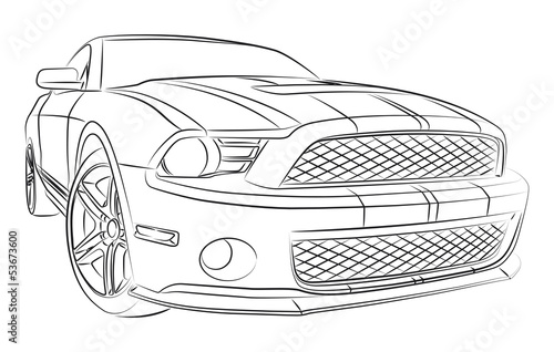 Muscle Car Drawing Stock Image And Royalty Free Vector Files On