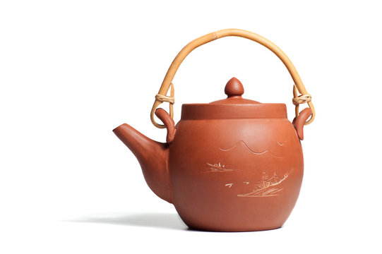 The chinese ceramic teapot