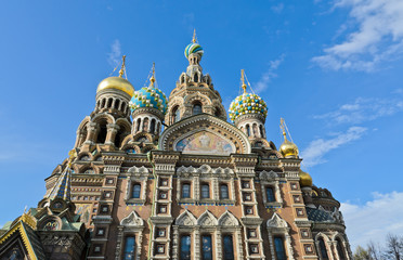 Church of the Savior on Spilled Blood in St.Petersburg, Russia.
