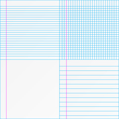 Set of paper designs
