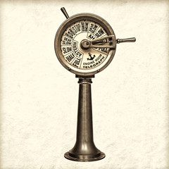 Retro styled image of a nineteenth century engine room telegraph