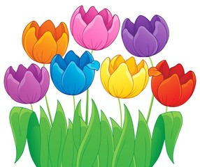 Image with tulip flower theme 4