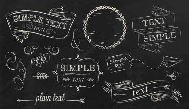 Chalk design elements