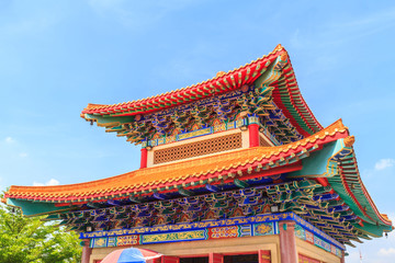 Chinese temple roof in Thailand.