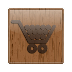 Wood shiny icon