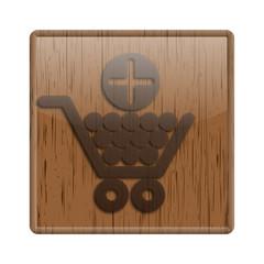 Wood shiny icon