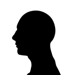 male head silhouette