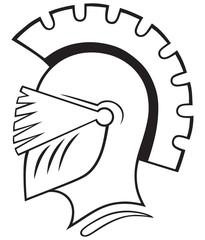 Helmet icon isolated on white background