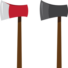 Isolated ax in two colors