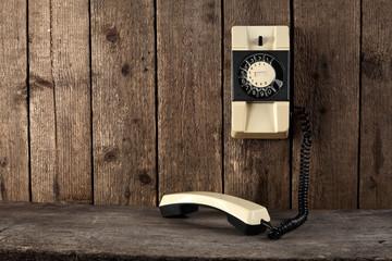 white phone on desk