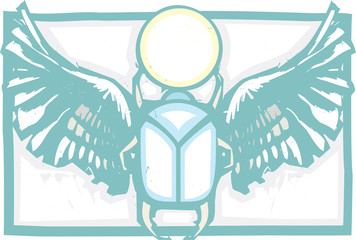Winged Scarab Color
