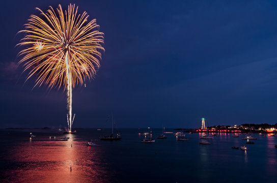Firework Burst over Marblehead Harbor